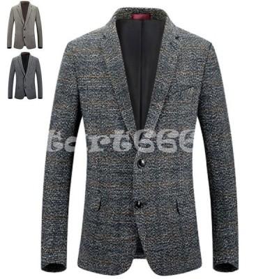 スーツ テーラードジャケット メンズ スリム スリムスーツ 2つボタン オールシーズンン ジャケット