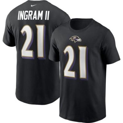 ナイキ Nike メンズ Tシャツ トップス Baltimore Ravens Mark Ingram #21 Legend Black T-Shirt