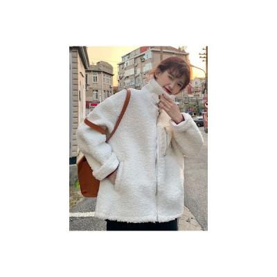 【送料無料】襟 フェイク子羊ウール アウターウェア 女 秋冬 韓国風 ルース 何でも | 346770_A63974-2144372