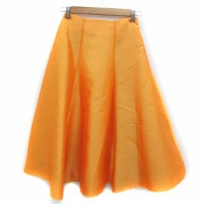 【中古】チェスティ Chesty スカート フレア ロング丈 0 オレンジ /YM25 レディース