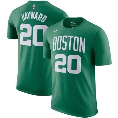 ナイキ メンズ Tシャツ Gordon Hayward Boston Celtics Nike Player Name & Number Performance T-Shirt 半袖 Kelly Green