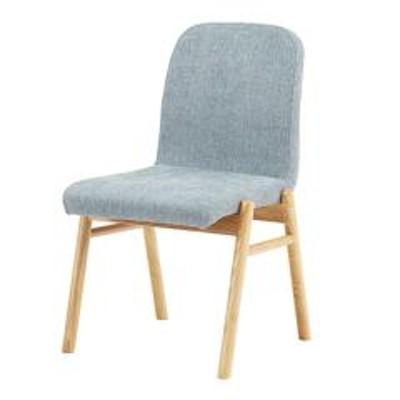ダイニングチェア チェア 座面高45cm 布張り ファブリック 木製 天然木 椅子 イス 北欧 ライトグレー