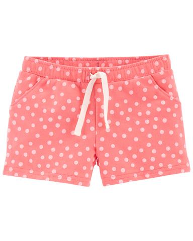 Carter's 粉紅點點抽繩短褲(2T-5T)