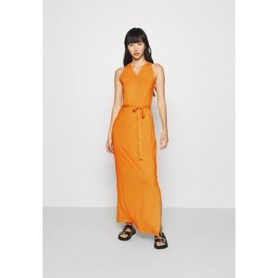 エブンアンドオッド ワンピース レディース トップス Maxi dress - kumquat