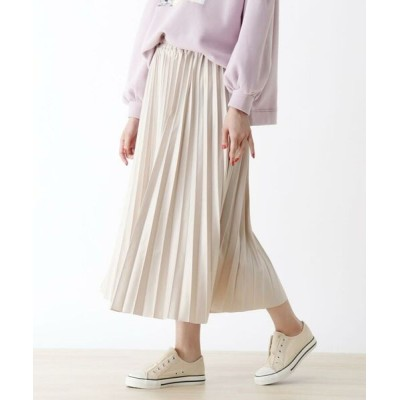 SHOO・LA・RUE/シューラルー 【S-L】レザーフィールプリーツスカート サンドベージュ(053) 02(M)