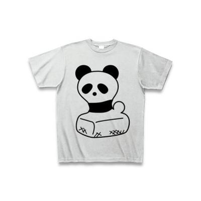 豆餅パンダ Tシャツ(アッシュ)