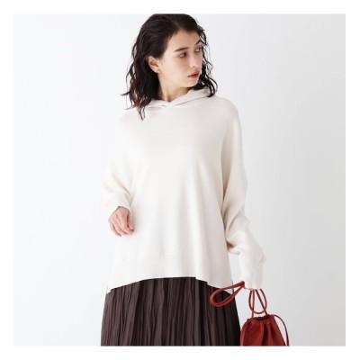 【オペークドットクリップ/OPAQUE.CLIP】 Lux organic cotton ニットフーディー