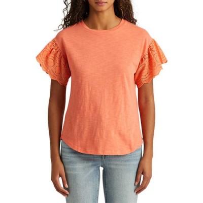 ラルフローレン レディース Tシャツ トップス Slub Jersey Flutter Sleeve Top