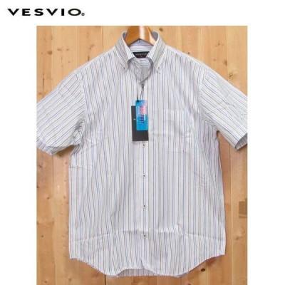 VESVIO(ベスビオ) ボタンダウンシャツ ストライプ VM16-7102 速乾シャツ ドライファスト 清涼素材