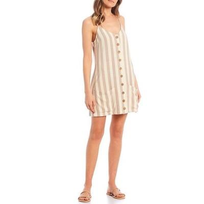 リップカール レディース ワンピース トップス Ashore Striped Mini Dress