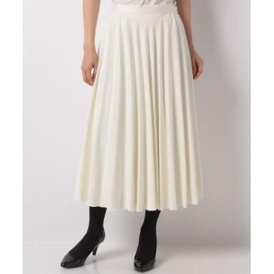 ANAYI/アナイ スエードチョウフレアプリーツスカート オフホワイト2 38
