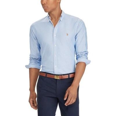 ラルフローレン メンズ シャツ トップス Slim-Fit Solid Stretch Oxford Long-Sleeve Woven Shirt BSR Blue