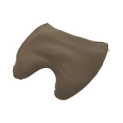 MOGU(モグ) 枕カバー ブラウン 約横60×縦60×高さ(低部)3・(高部)10cm 肩が軽くなるまくら 専用カバー (日本製) 000