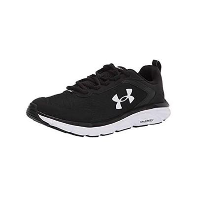 並行輸入品 Under Armour mens Charged Assert 9 Running Shoe, Black/White, 10.5 X-Wide U