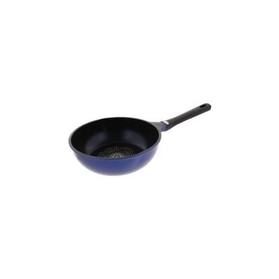 ベストコ  クロリス ダイヤモンドコート IHディープパン ブルー 24cm