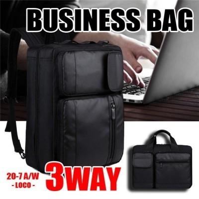 ビジネスバッグ メンズ 3WAY ビジネスリュック メンズ 大容量 マチ拡張 防水 通勤 出張 カバン 鞄 A4 B4 パソコン収納 軽量 撥水 就活 おしゃれ セール