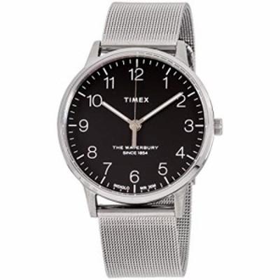 腕時計 タイメックス メンズ Timex The Waterbury Classic Quartz Movement Black Dial Men's Watch TW2R