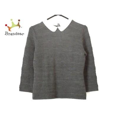 エムズグレイシー M'S GRACY 長袖セーター サイズ38 M レディース グレー×白 新着 20200810