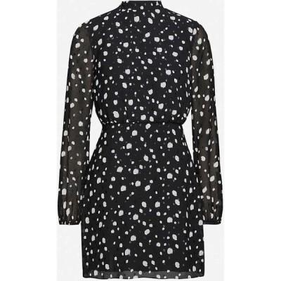 テッドベーカー TED BAKER レディース ワンピース ミニ丈 ワンピース・ドレス Floelle polka dot crepe mini dress BLACK
