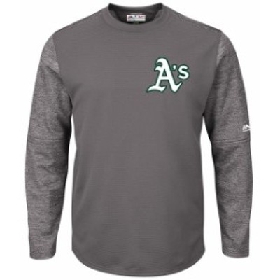 Majestic マジェスティック スポーツ用品  Majestic Oakland Athletics Graphite Alternate Authentic Tech Fleece Pullover Sweatshirt