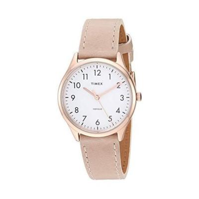 Timex TW2T72400 Women's Modern Easy Reader 32mm Beige Leather Strap Watch並行