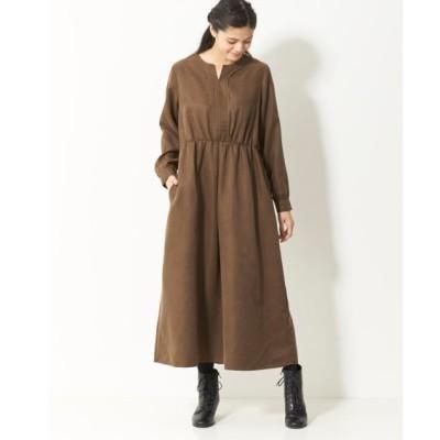 大きいサイズ シンプルロングワンピース(オトナスマイル) ,スマイルランド, ワンピース, plus size dress