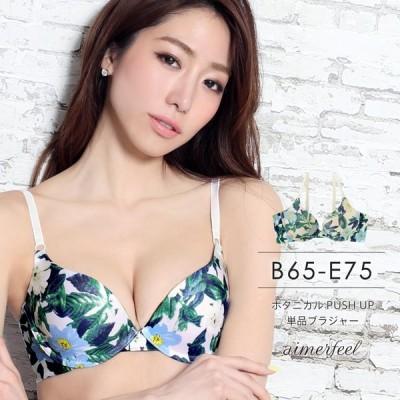 ブラジャー 単品/ボタニカル PUSH UP 単品ブラジャー/女性 下着 レディース(aimerfeel/エメフィール)