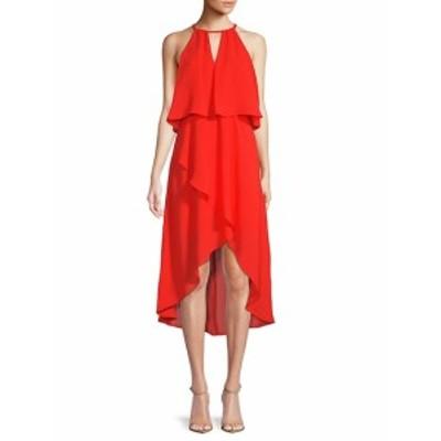 サックスフィフスアベニュー レディース ワンピース Hi-Lo Blouson Dress