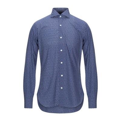 BARBA Napoli シャツ ダークブルー 39 コットン 100% シャツ