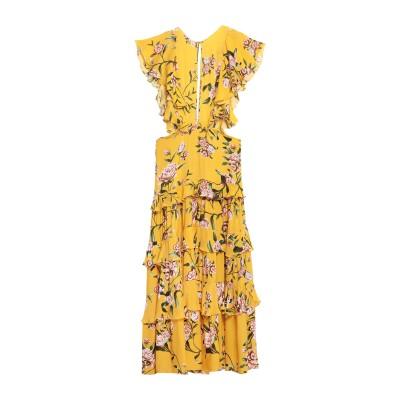 JOHANNA ORTIZ ロングワンピース&ドレス イエロー 0 シルク 100% ロングワンピース&ドレス