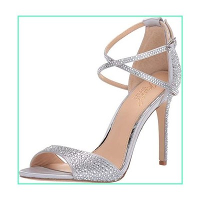 Jewel Badgley Mischka Women's DILLON Sandal, silver satin, 7.5 M US並行輸入品
