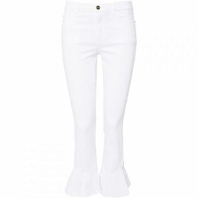 イブルース Iblues レディース ジーンズ・デニム ボトムス・パンツ Lisotte frill hem jeans White