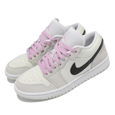 Nike 休閒鞋 Air Jordan 1 Low 女鞋 喬丹 經典款 皮革 質感 穿搭 綠 粉 CZ0776300