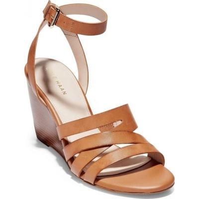 コールハーン Cole Haan レディース サンダル・ミュール ウェッジソール シューズ・靴 Marieta Wedge Sandals Pecan Leather