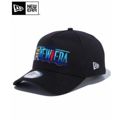 送料無料 ニューエラ 9FORTY A-Frame ONE PIECE ワンピース タイトルロゴ ブラック 12541446 メンズ 帽子 CAP ロゴ NEW ERA