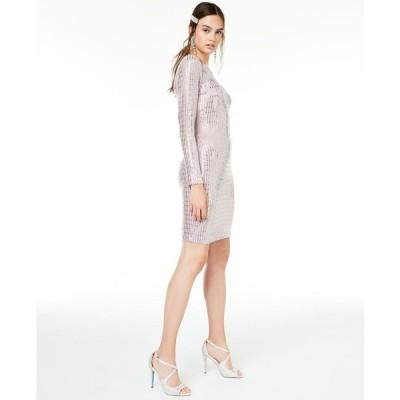 モルガン Morgan & Company レディース ボディコンドレス 大きいサイズ ワンピース・ドレス Trendy Plus Size Metallic Bodycon Dress Mauve/Silver