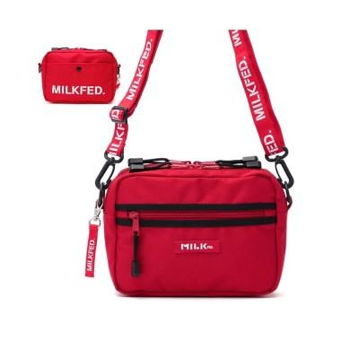 【ギャレリア】 ミルクフェド MILKFED. 2WAY SHOULDER BAG BAR Jr ショルダーバッグ 03192052 レディース レッド F GALLERIA