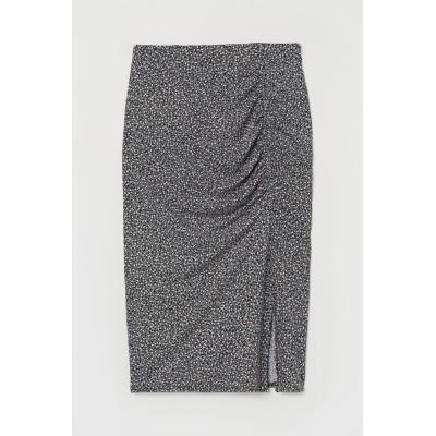 H&M - ジャージーギャザースカート - ブラック