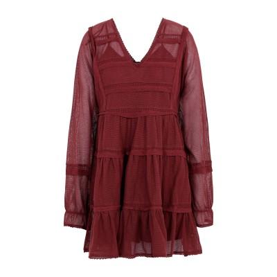 FREE PEOPLE ミニワンピース&ドレス ボルドー XS コットン 81% / レーヨン 19% ミニワンピース&ドレス
