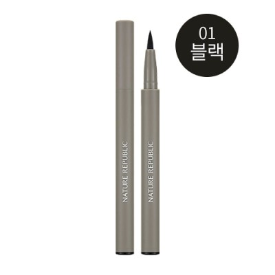 ネイチャーリパブリック(Nature Republic) バイフラワーハードアイライナー 0.8g - ブラック : 汗、水、皮脂に強いロングラスティングタイプ。 ::韓国コスメ ネイチャーリパブリッ