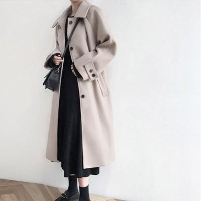 チェスターコート レディース アウター ブラック ベージュ ロング ステンカラー きれいめ フェミニン Good Clothes