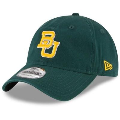 ニューエラ 帽子 アクセサリー メンズ Baylor Bears New Era Core 9TWENTY Adjustable Hat Green