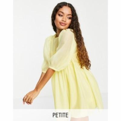 コレクティブザラベル Collective The Label Petite レディース ワンピース Collective the Label Petite puff sleeve mini shift dress