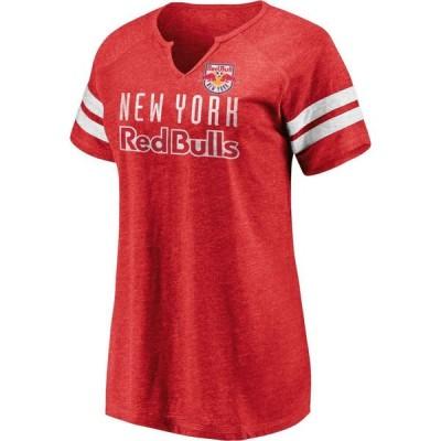ファナティクス Fanatics レディース Tシャツ トップス MLS New York Red Bulls Red Notch Neck T-Shirt