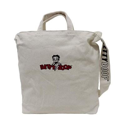 [ベティ ブープ]Betty Boop ショルダーバッグ トートバッグ 2WAY ロゴ コットン アイボリー