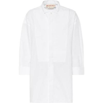 マルニ Marni レディース ブラウス・シャツ トップス cotton-blend poplin shirt Lily White