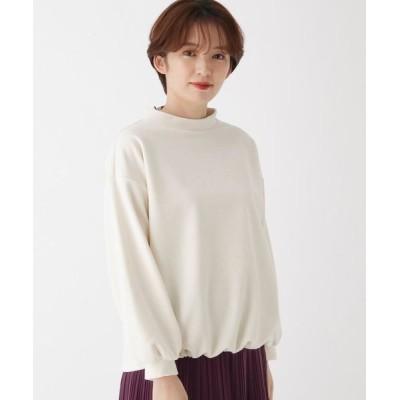 esche/エッシュ ふんわりコール裾絞りプルオーバー アイボリー(004) 42(L/ミセス)