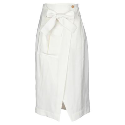 エリカ カヴァリーニ ERIKA CAVALLINI 7分丈スカート アイボリー 44 レーヨン 100% 7分丈スカート