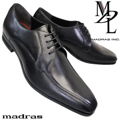 マドラス MDL DS4046 黒 メンズビジネスシューズ 冠婚葬祭 3E スワールモカ 外羽根 ブラック 紳士靴 DS 4046