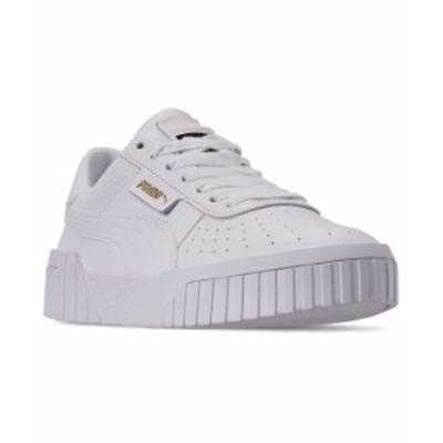 プーマ レディース スニーカー シューズ Women's Cali Fashion Casual Sneakers from Finish Line WHITE/WHITE